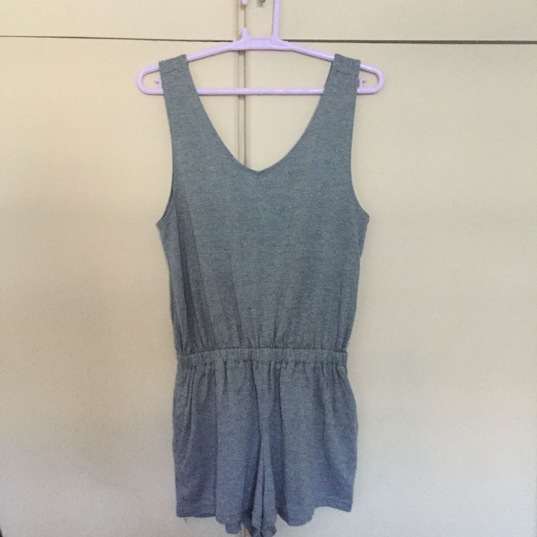 Cotton on gray sleeveless romper