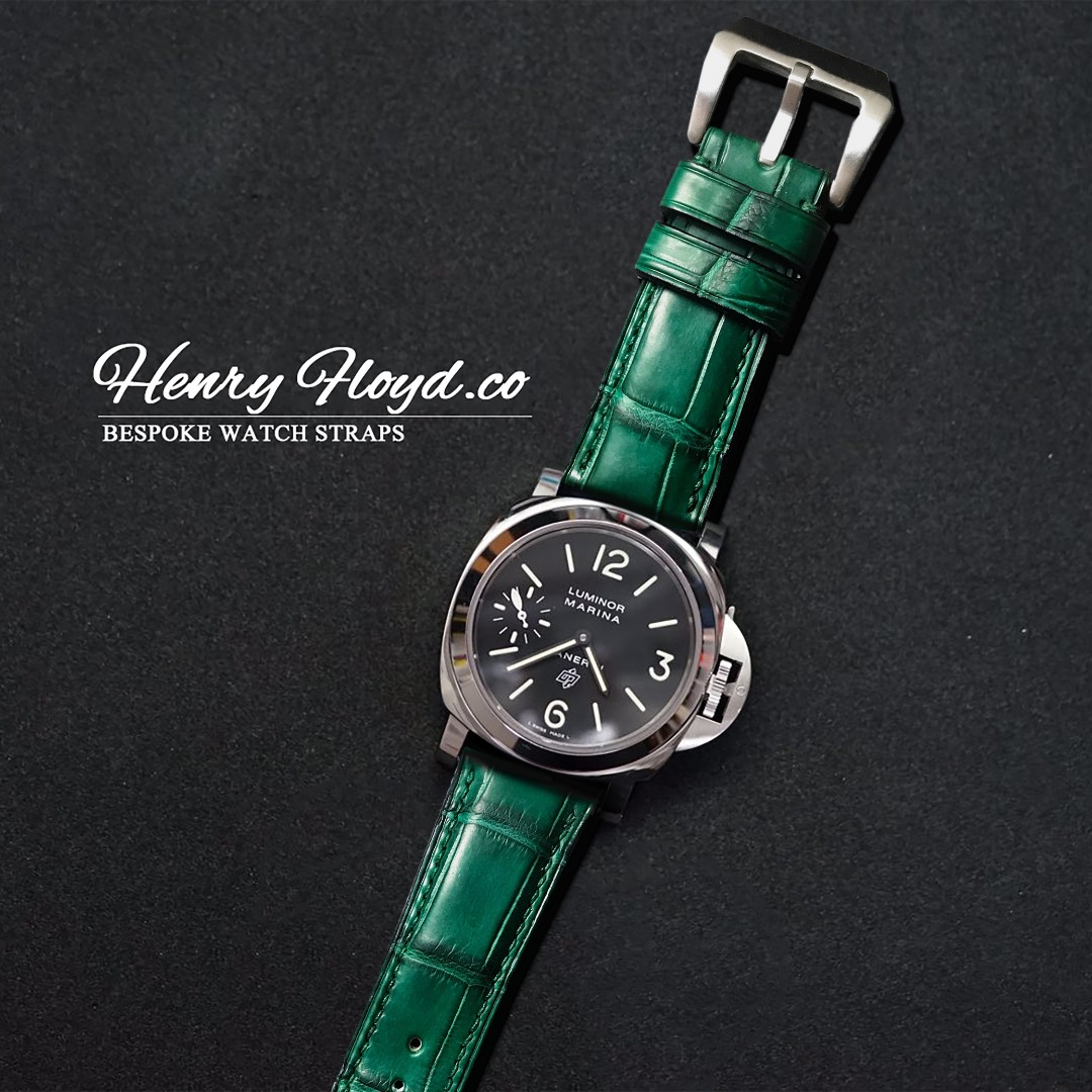 omega crocodile for panerai emerald p strap on like luxury classic green exotic rolex watches carousell