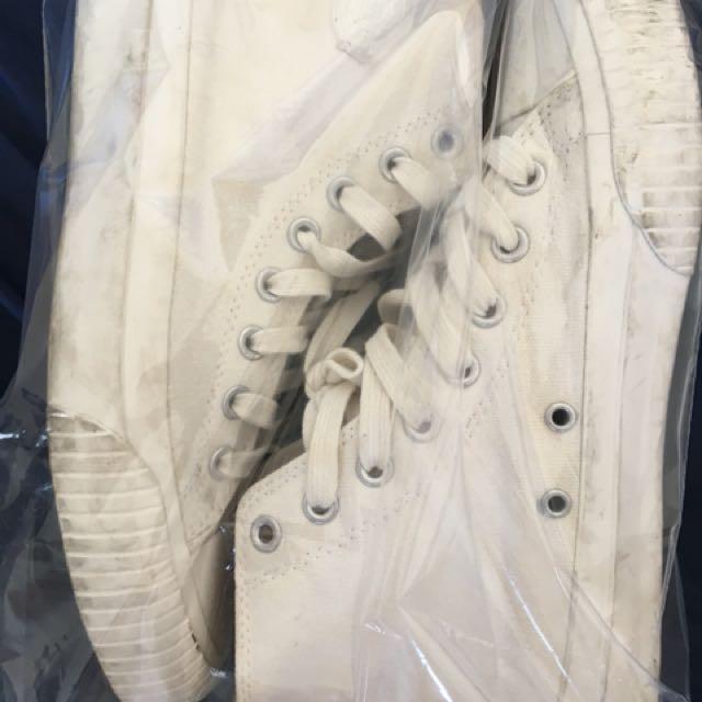 Dickies帆布鞋 高筒 白色