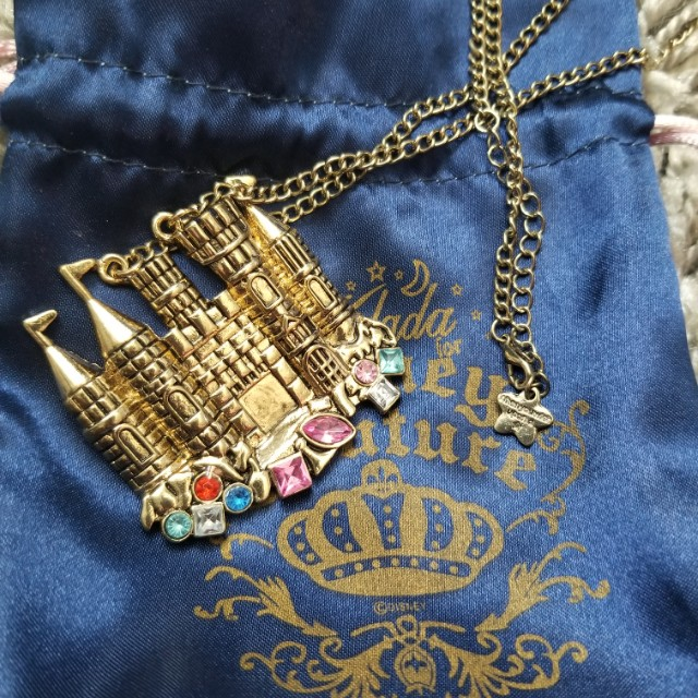 Disney Couture Little Mermaid Castle Necklace