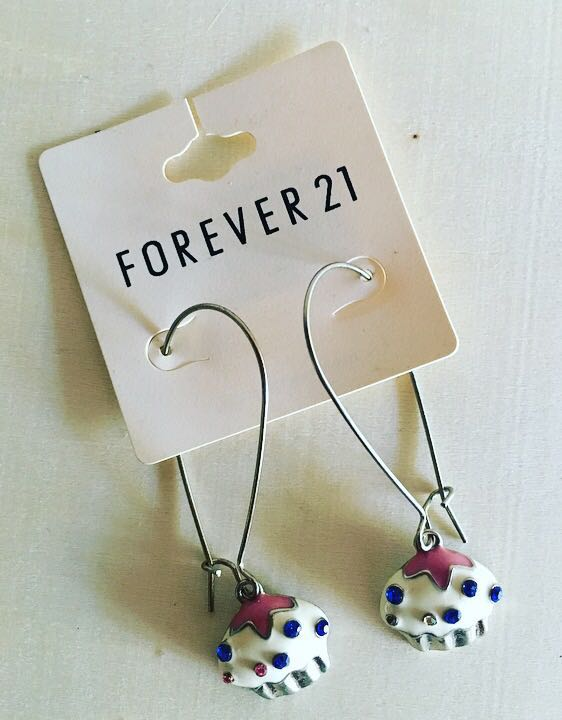 F21 Cupcake Earrings