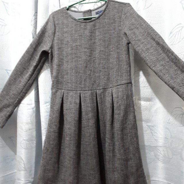 Gray Longsleeves Dress