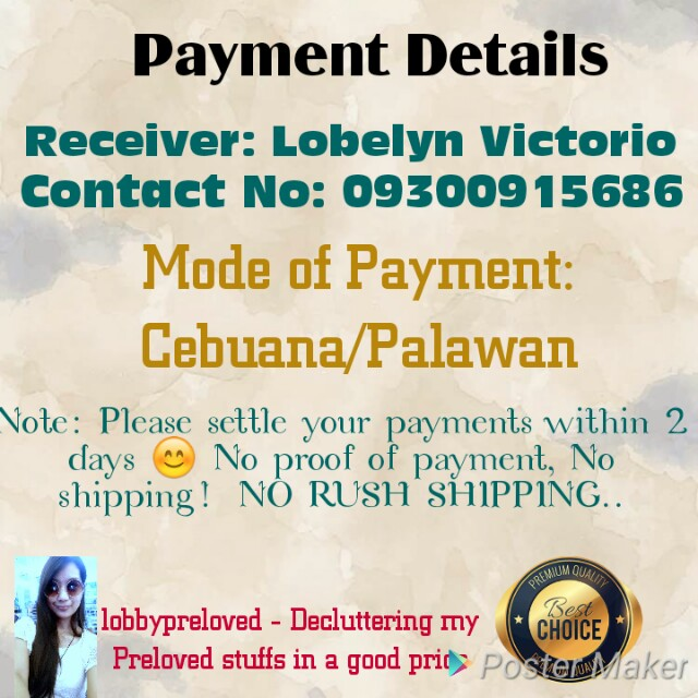 Heres my Payment Details 😊