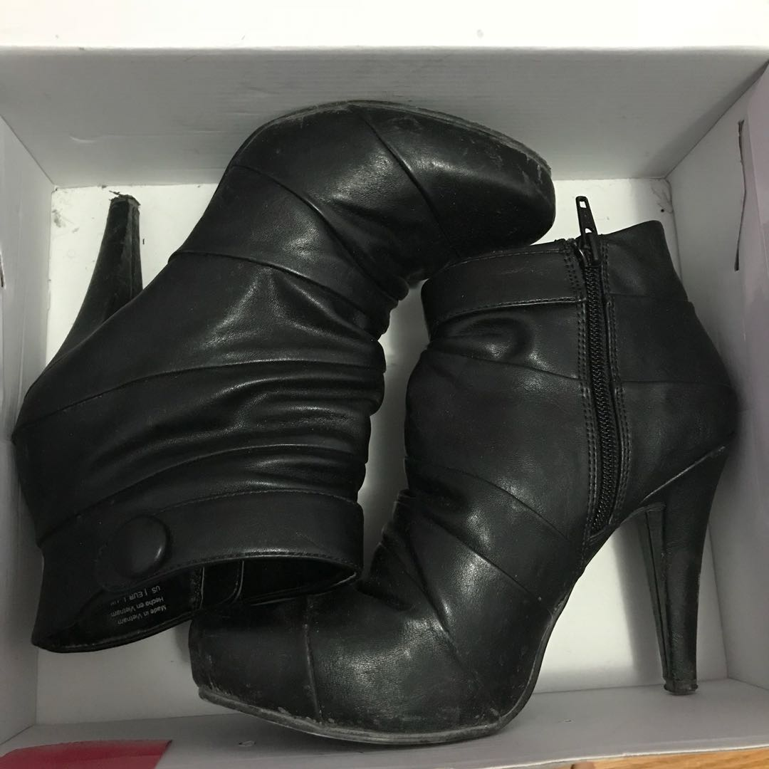 High heel booties from Spring - size 6