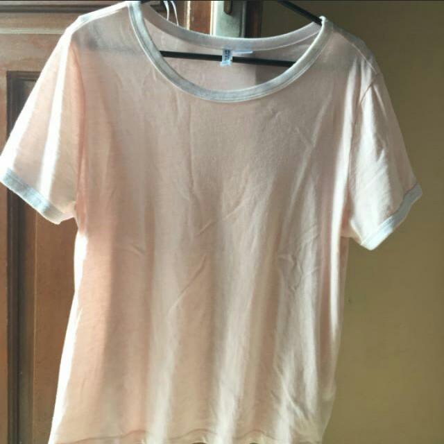 h&m hnm pink basic t shirt