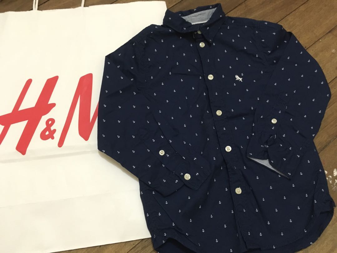 H&M long sleeves polo (4-5y)
