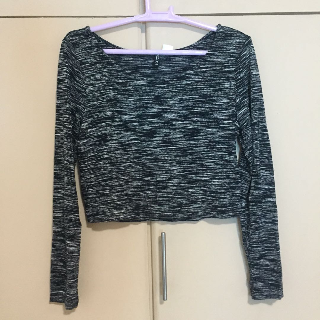 H&M long-sleeves crop top