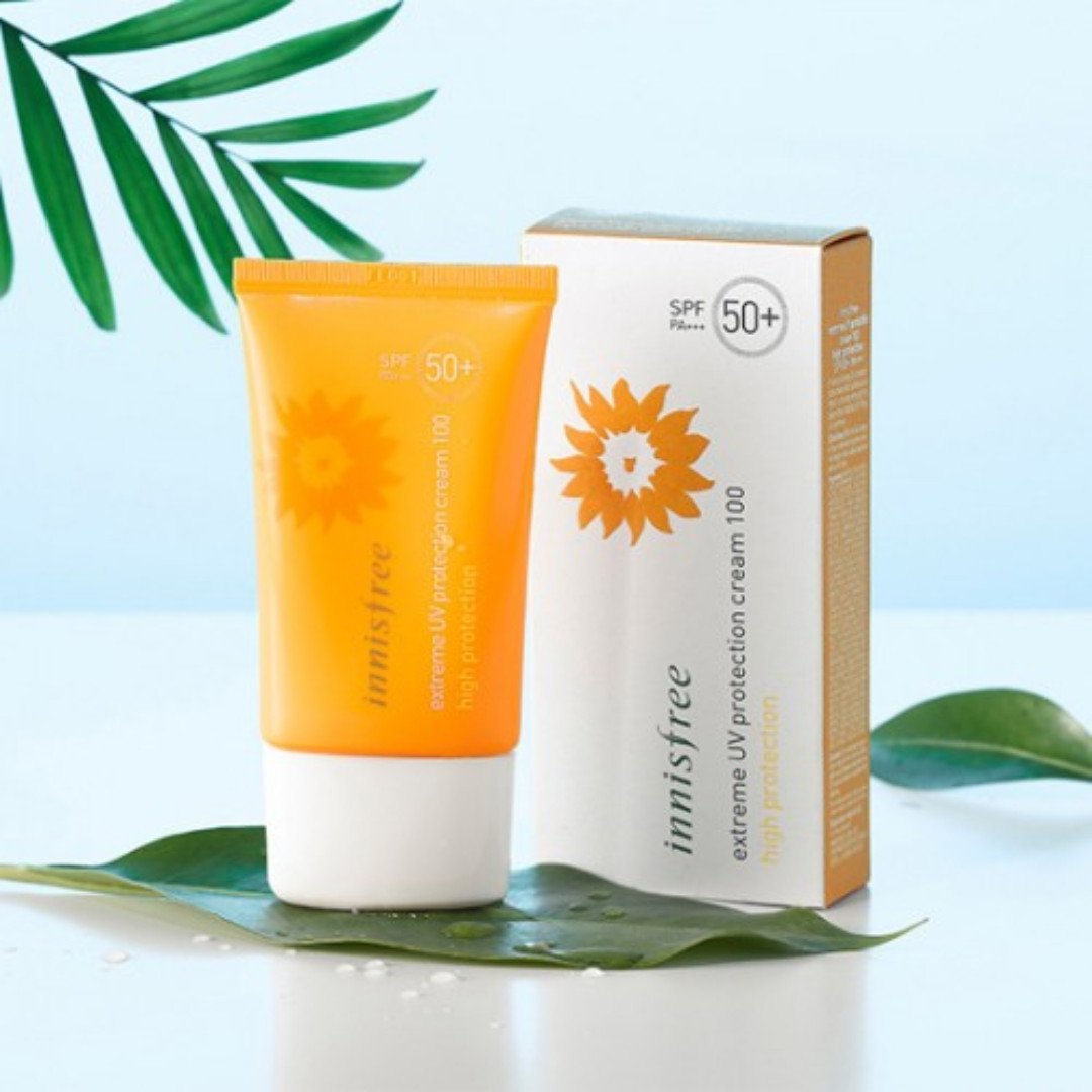 innisfree extreme uv protection cream 100 high protection spf 50+/pa+++