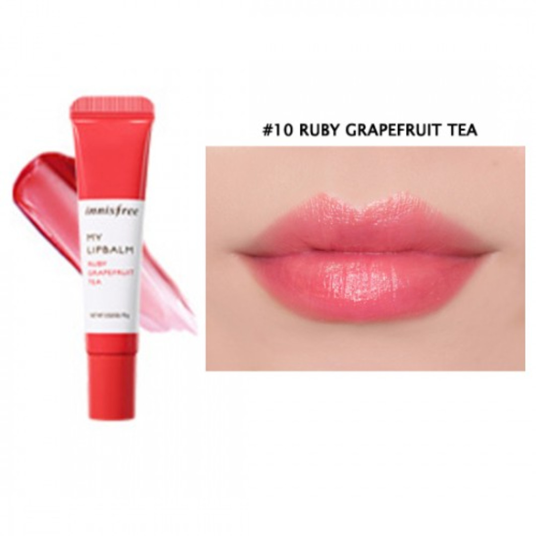 innisfree my lipbalm #10 ruby grapefruit tea