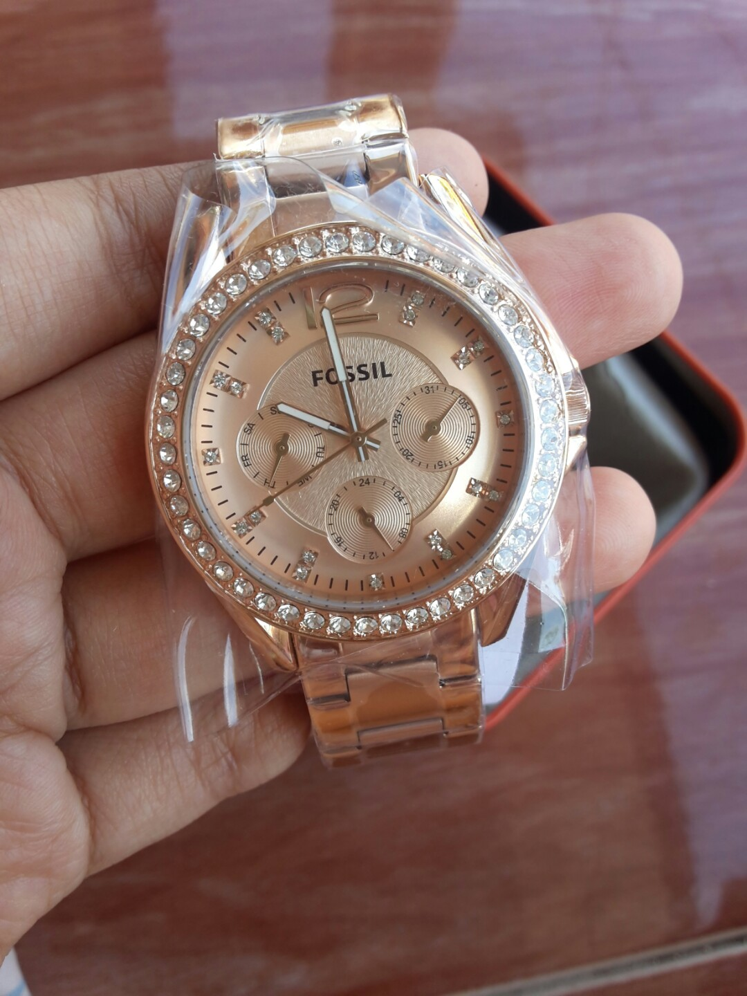 Fossil Rilex Es2811 Jam Tangan Wanita Rose Gold Daftar Es3913 Original Riley Preloved Fesyen Source Photo