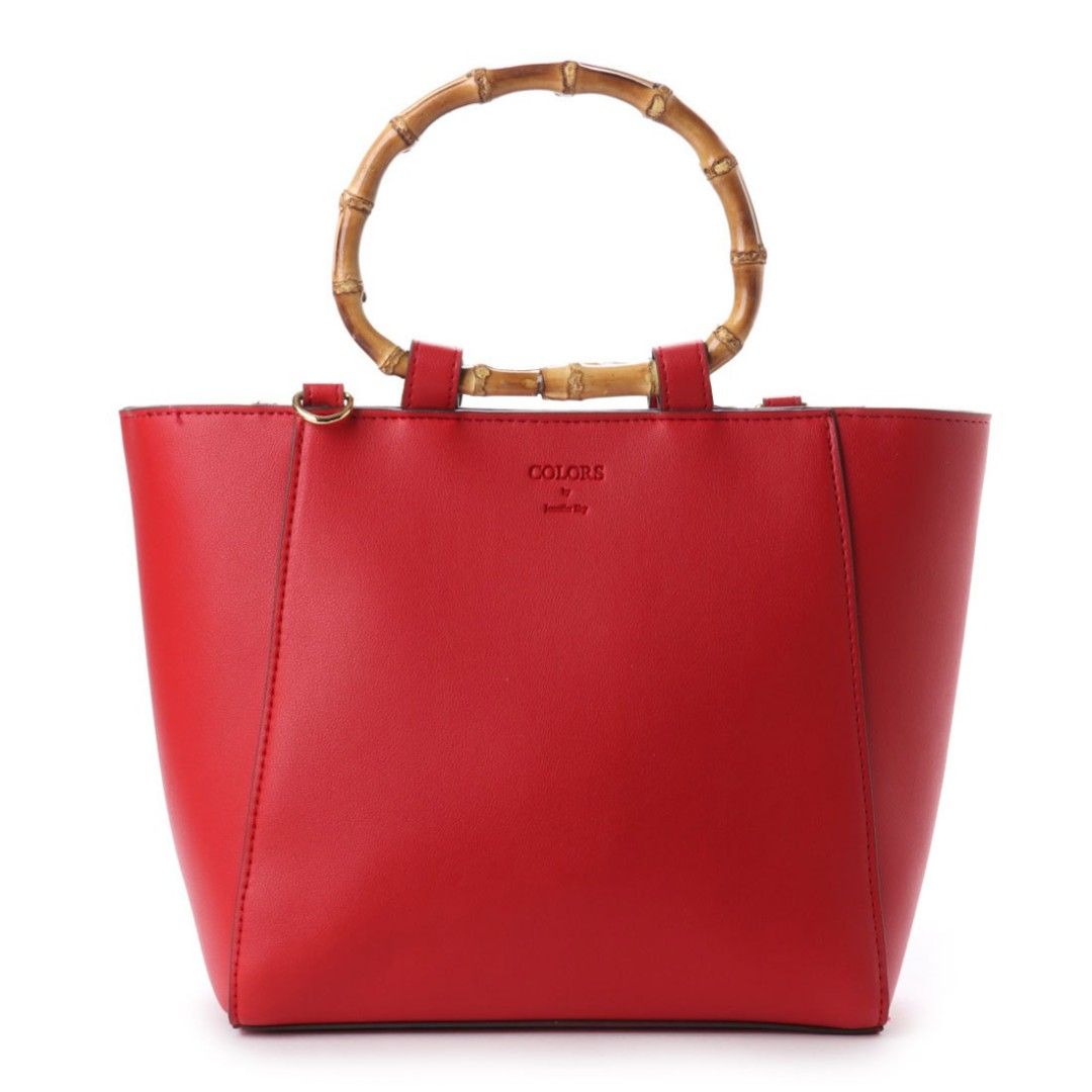 An Samantha Thavasa Colors By Jennifer Sky Bamboo Handle Tote Bag Red Women S Fashion Bags Wallets On Carou