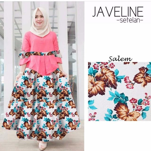 Javeline set dapat atasan dan rok wanita