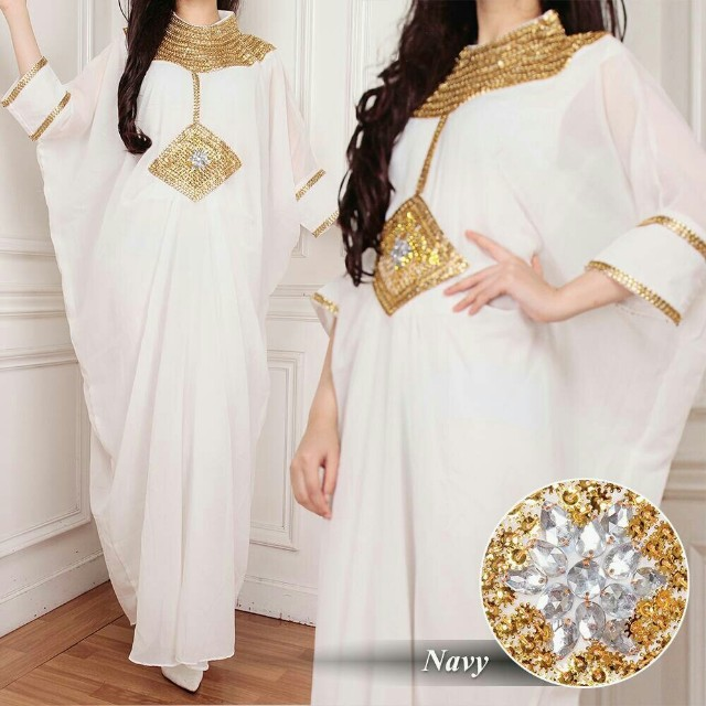 Kaftan cleopatra fashion muslim wanita 6warna