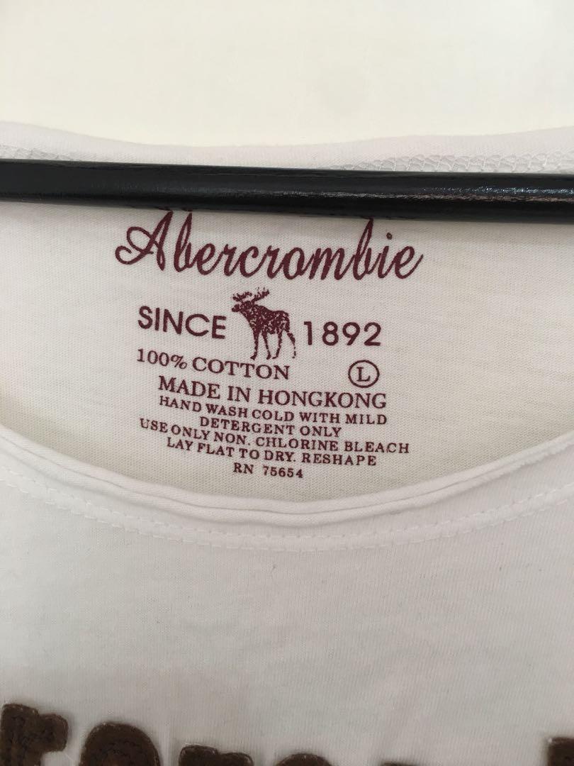 Kaos Tshirt Abercrombie Putih