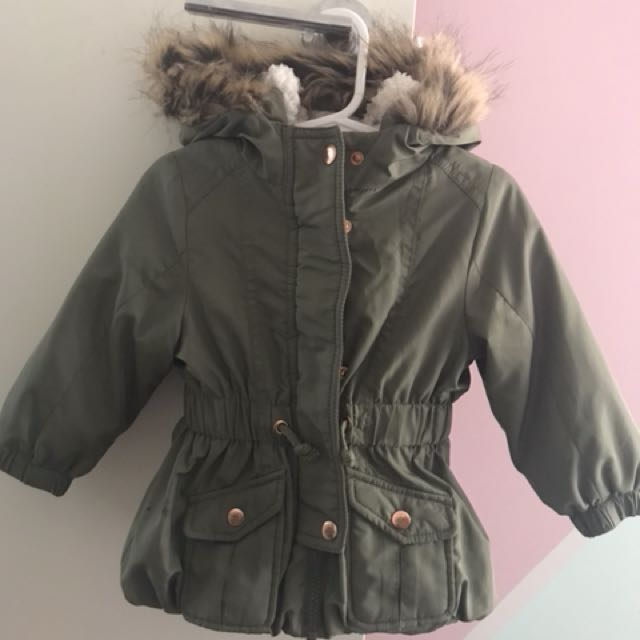 Khaki toddler girls jacket