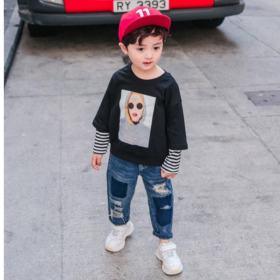 Kids Fashion Boy Denim Jeans Babies Kids Boys Apparel On Carousell