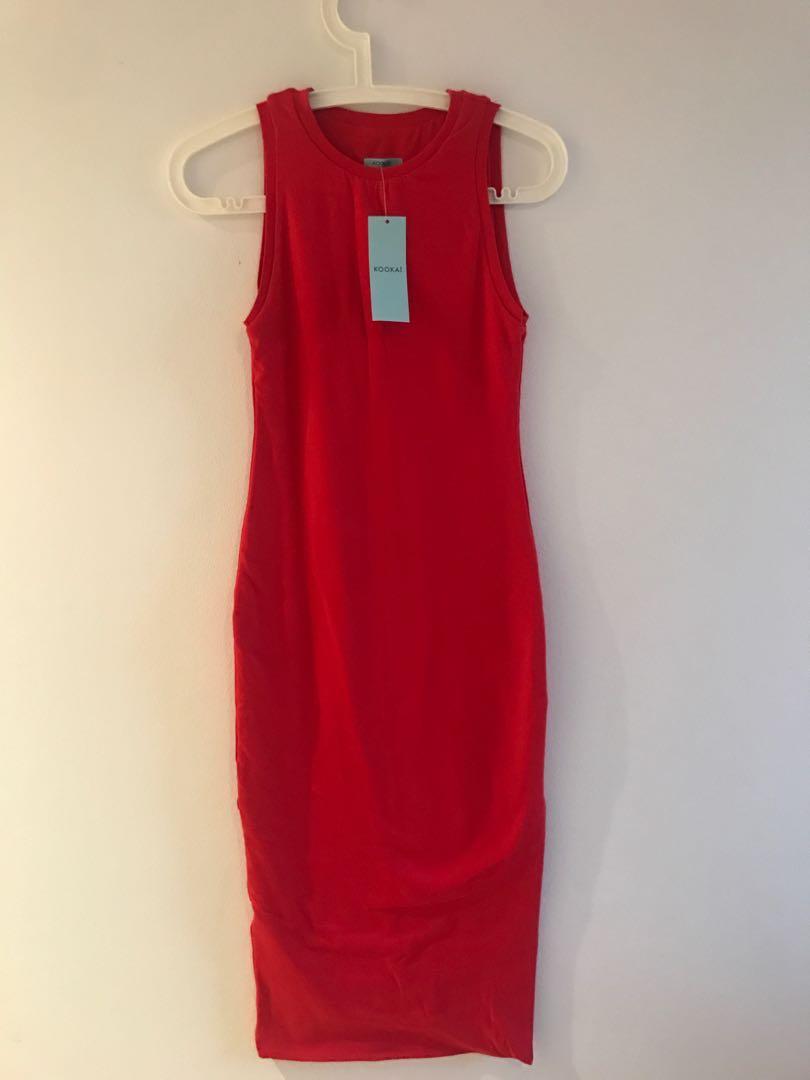 KOOKAI Red Dress Size 1 BNWT
