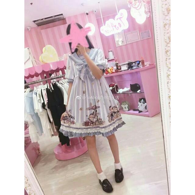 lolita海軍熊洋裝