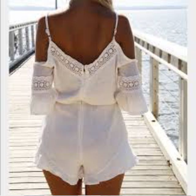 Madison Square x Wilde Heart Gypsy Warrior Romper In Ivory