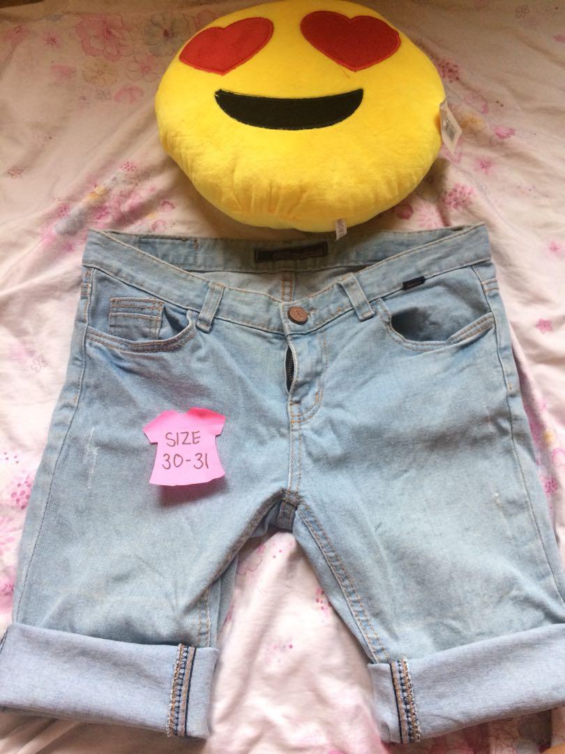 Maong Pedal Shorts
