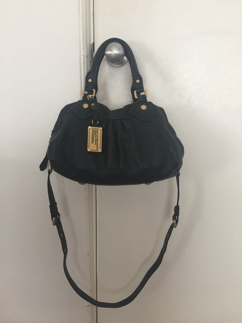 Marc by Marc Jacobs Classic Q Baby Bag - Authentic - Black Leather