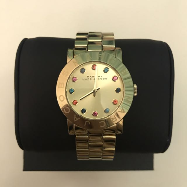 Marc by Marc Jacobs yellow gold metal watches