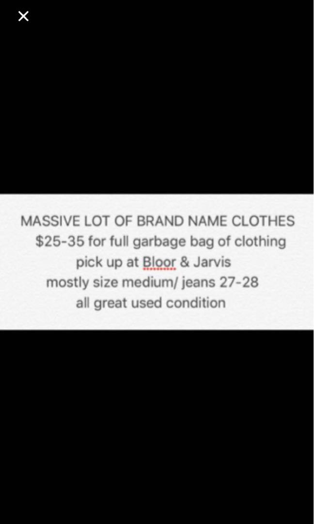 Massive Lot of Brand Name Clothing