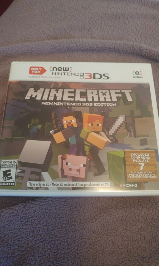 Minecraft for NEW Nintendo 3ds