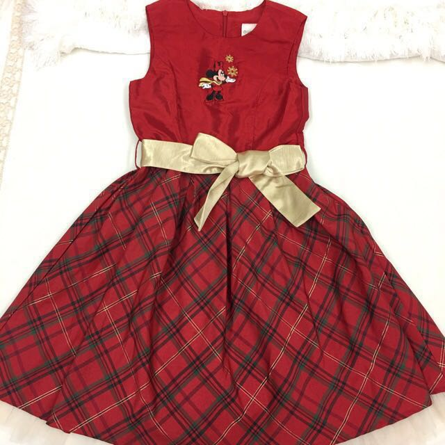 Minnie Mouse red and gold formal dress