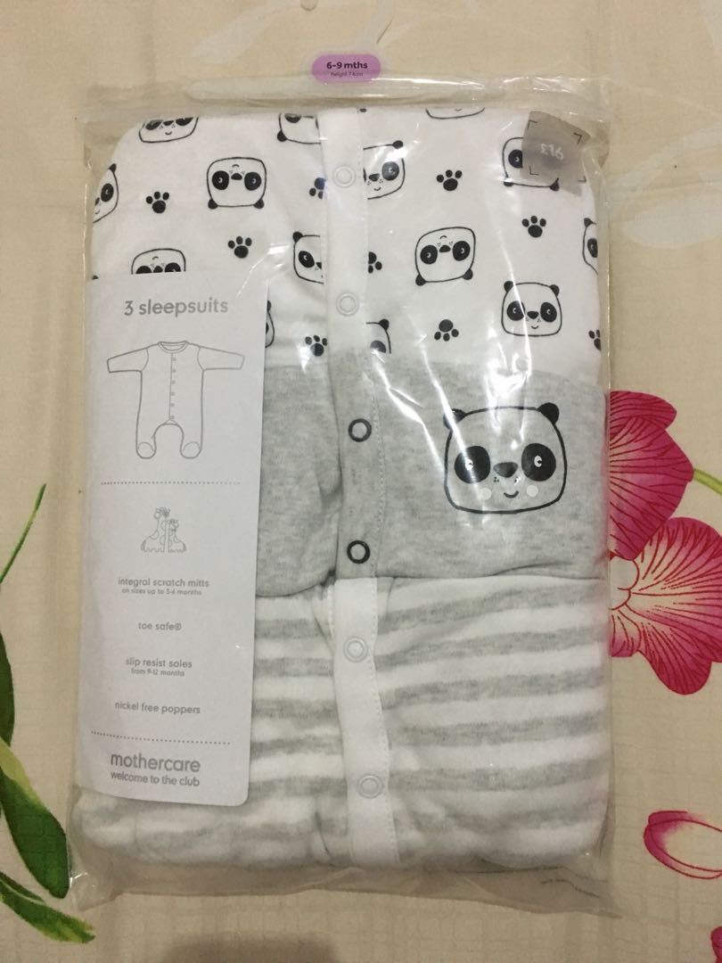 Mothercare Sleepsuit pack isi 3