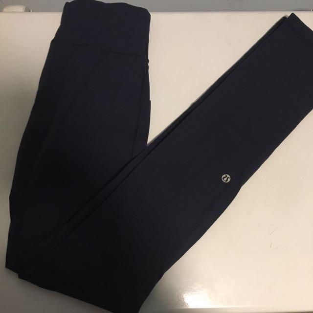 Navy blue lululemon tights