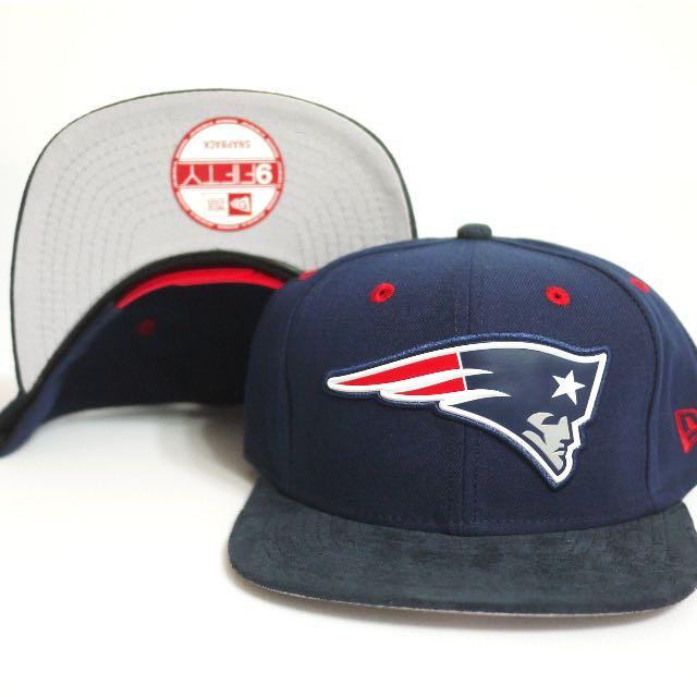 NEW ERA 9FIFTY SNAPBACK NFL 新英格蘭愛國者 麂皮帽簷 電繡 排扣棒球帽 全新正品 送透明帽盒&棒球帽鑰匙圈