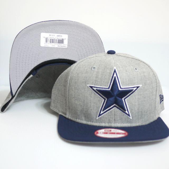 NEW ERA 9FIFTY SNAPBACK NFL 達拉斯牛仔 星星 電繡 排扣棒球帽 全新正品 灰 送透明帽盒&棒球帽鑰匙圈