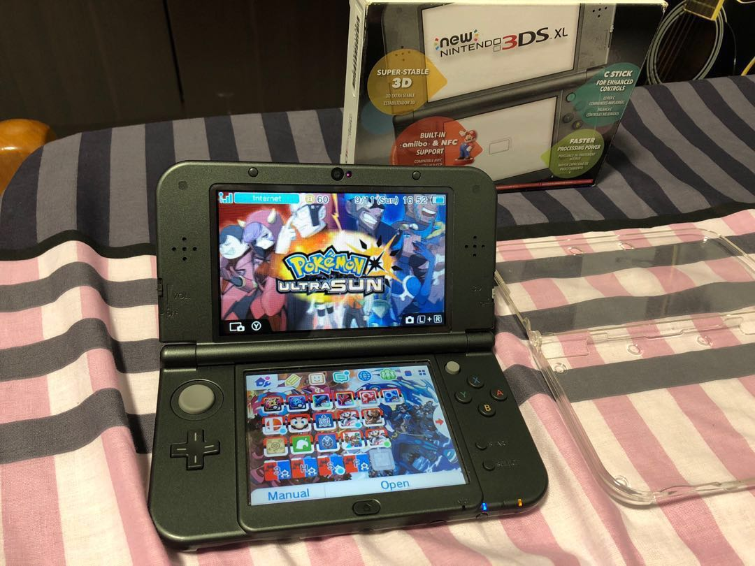 New Nintendo 3ds Xl Black Modded 3 Ds Metallic Toys Games Video Gaming Consoles On Carousell