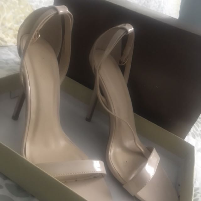 NUDE one strap heels size 8