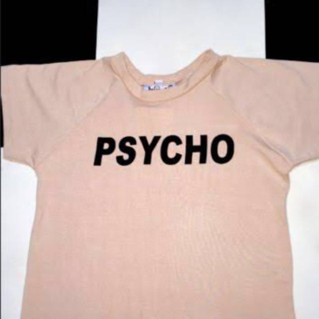 O Mighty Beige Psycho Cropped Tee Size M