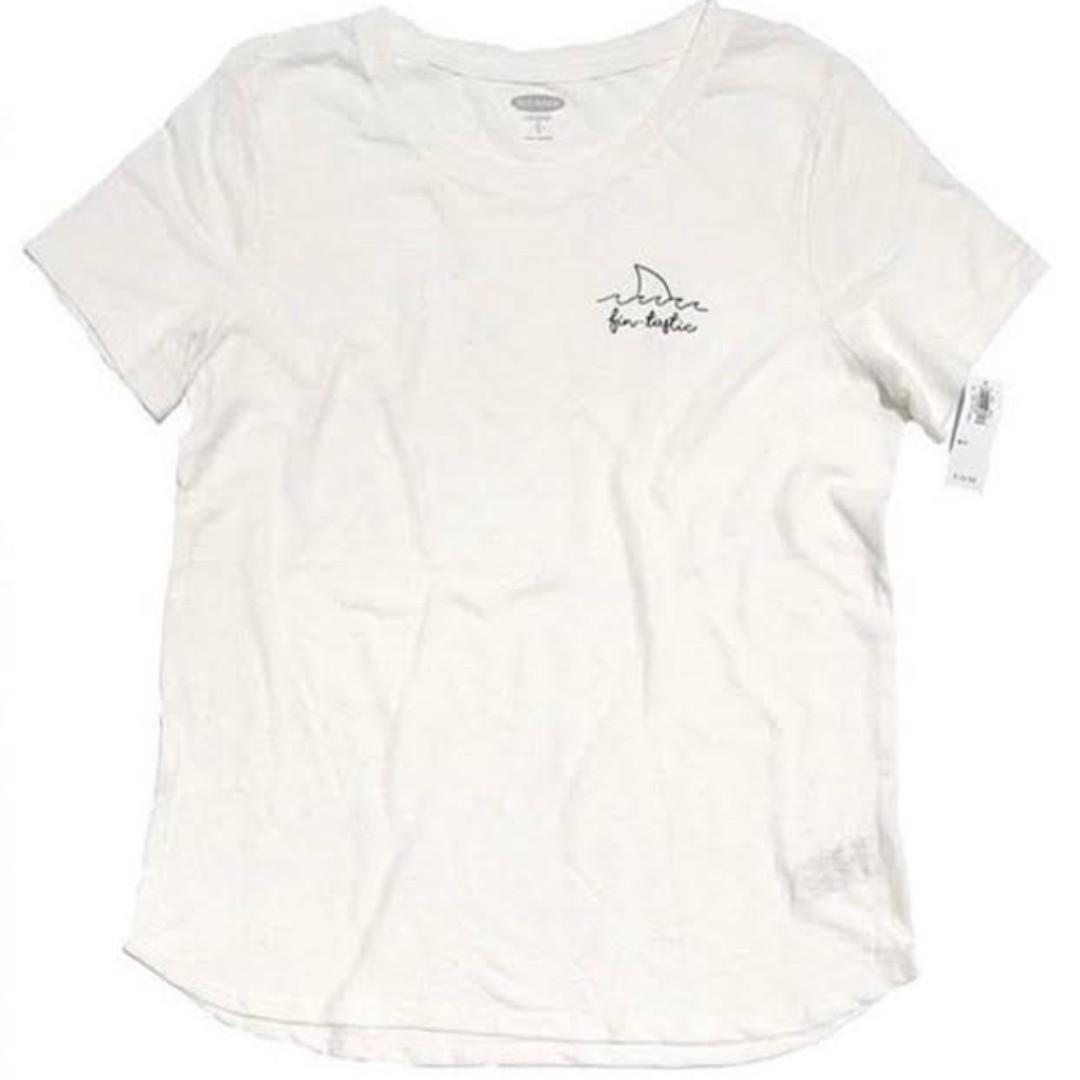 Old Navy Tshirt Fin Tastic White