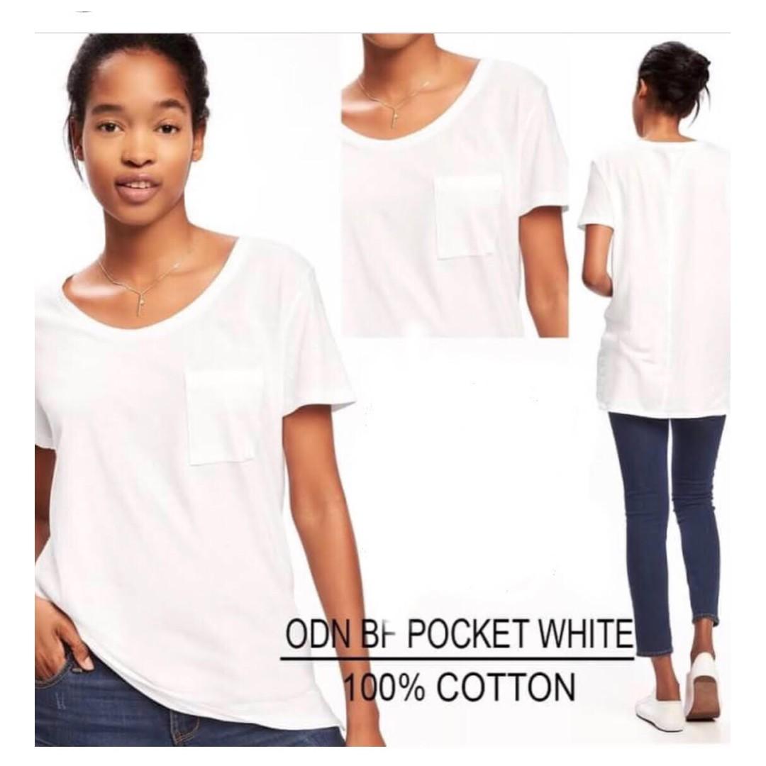 Old Navy Tshirt Pocket white