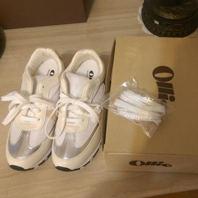 韓國Ollie時尚撞色增高休閒鞋