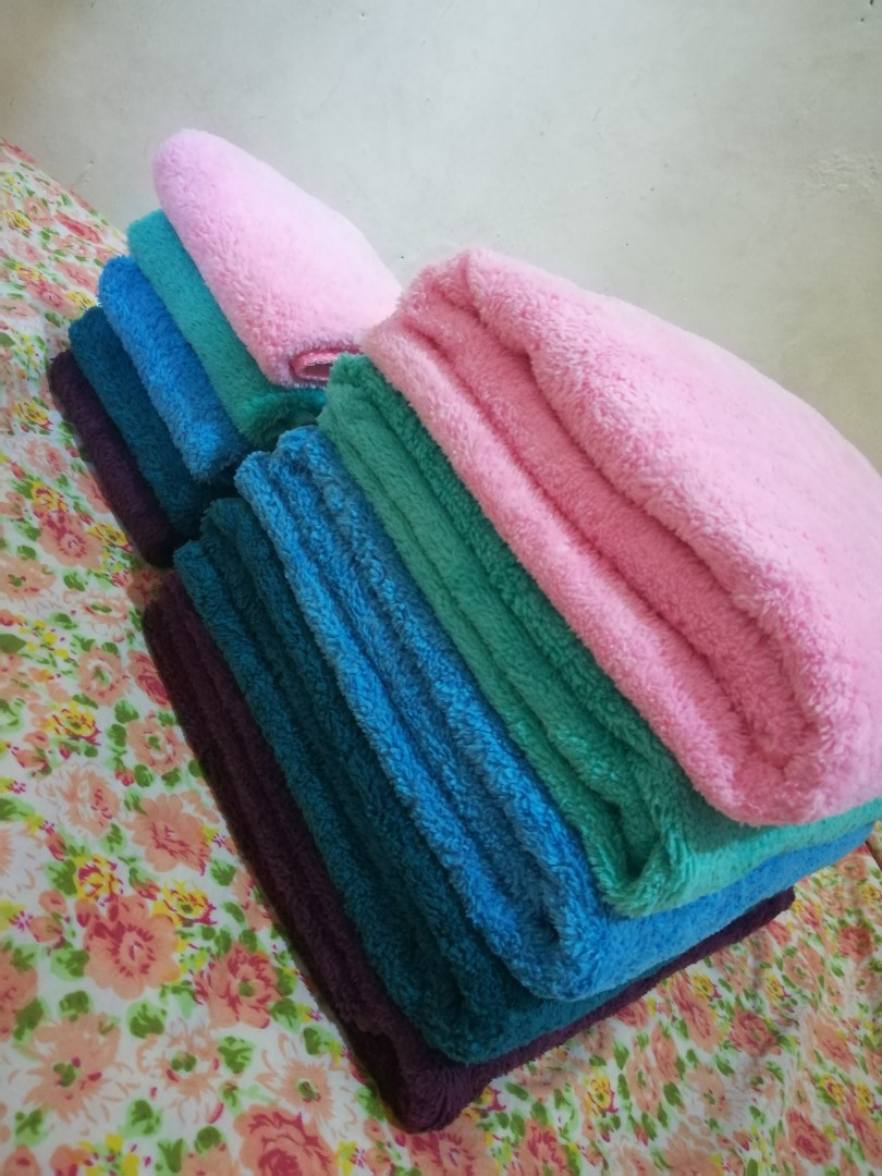 On hand microfiber towels