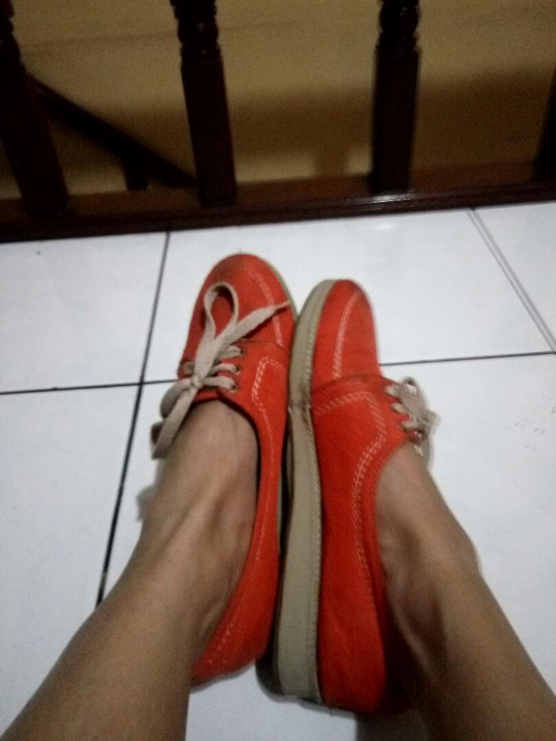 Orange simple shoes