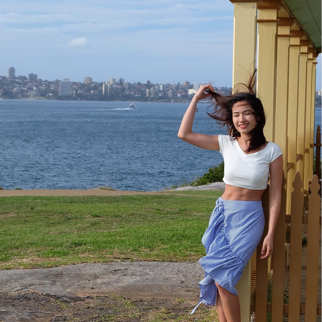 pair crop top and skirt