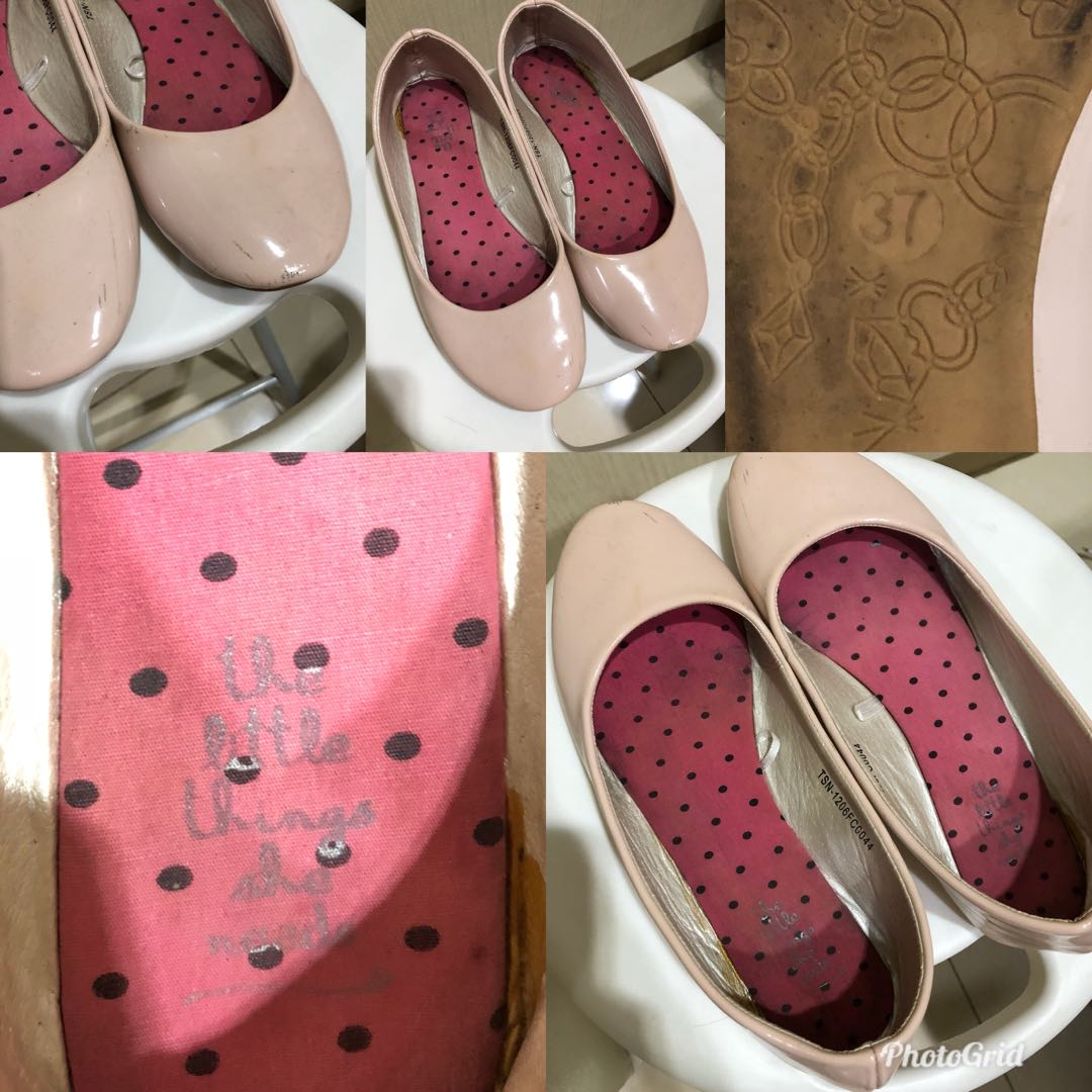 Pink Nude Flat Shoes the Little things she needs