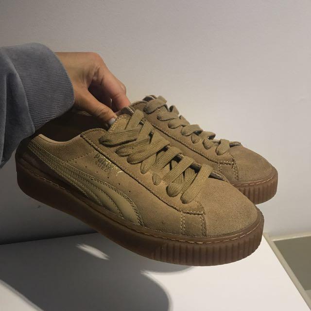 Puma Suede Basket Platform Sneakers Size 7