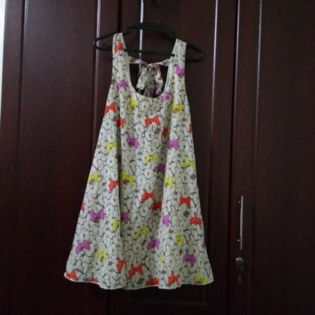 Ribbon Printed Dress