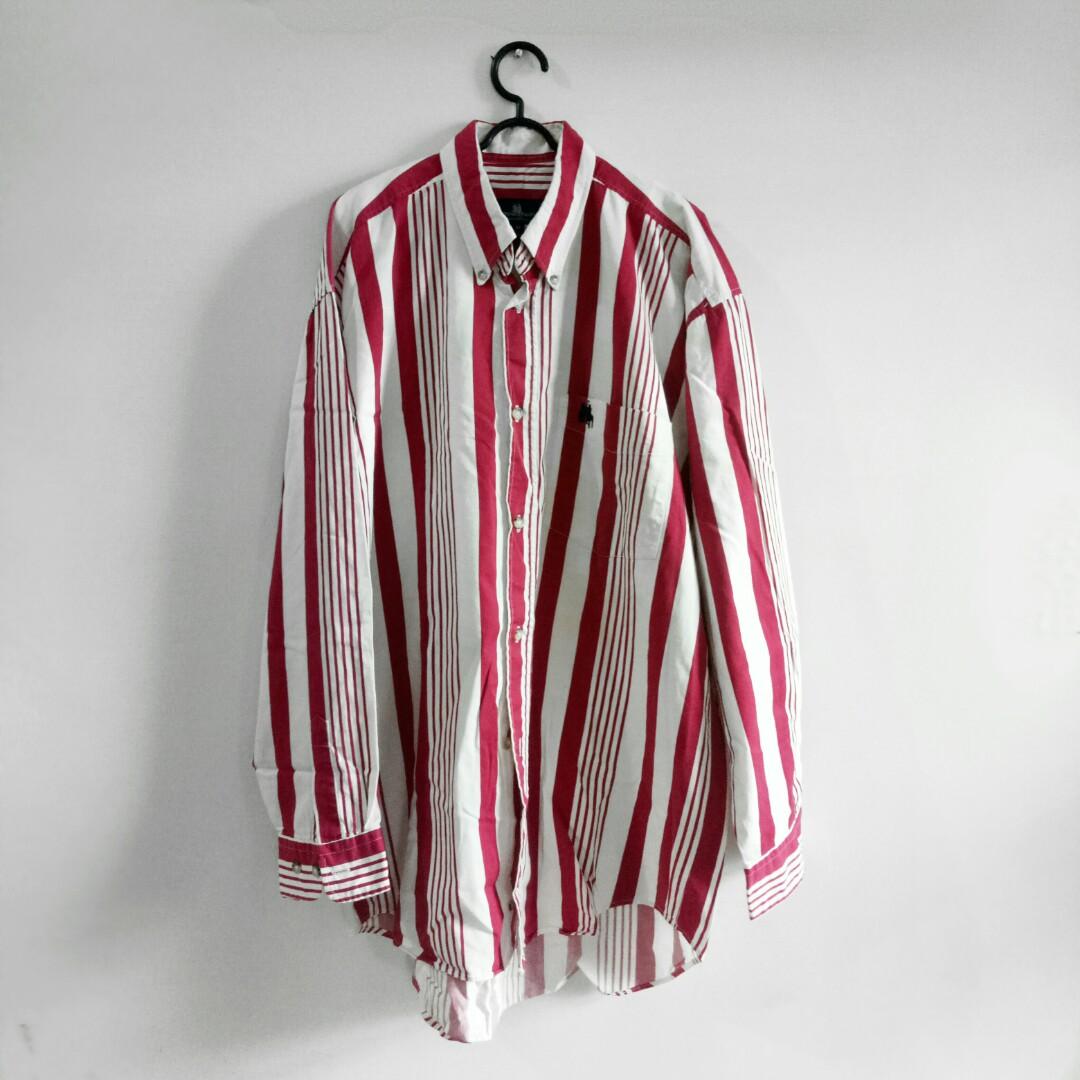 ROYAL QUEEN'S POLO TEAM Red Stripe Long Shirt