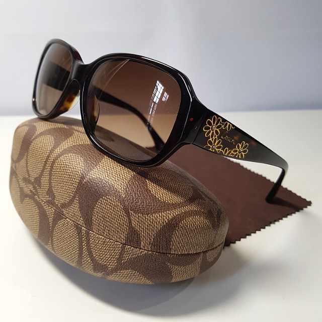 903b9c69b5d68 SALE) Coach Sunglasses Dark Tortoise
