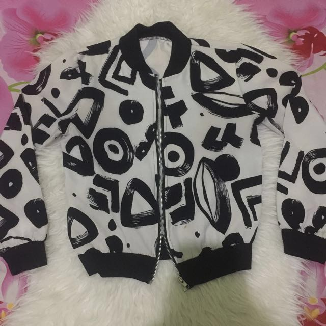 SALE‼️abstract bomber jacket