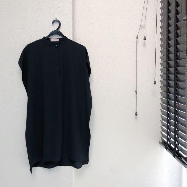 SANS&SANS Black Basic Shift Dress
