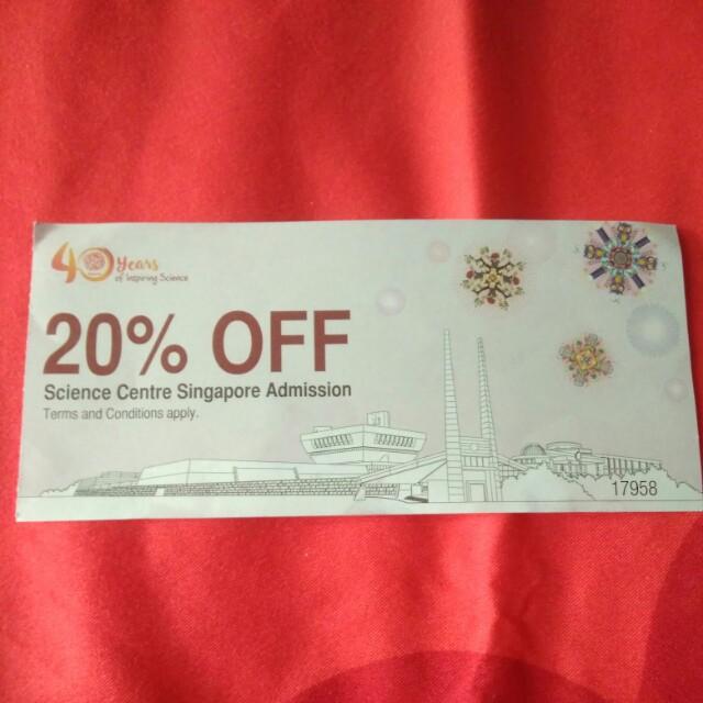 Science centre discount voucher